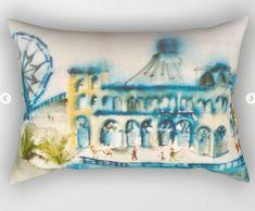 Santa Monica Pier Rectangular Pillow by laurimatisse Matisse, Santa Monica, Bed Pillows, Fun, Fashion, Fashion Styles, Fasion, Fashion Illustrations, Moda