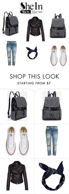 """""""Geen titel #64"""" by adna-varesevic ❤ liked on Polyvore featuring Converse, Barbour International and Boohoo"""