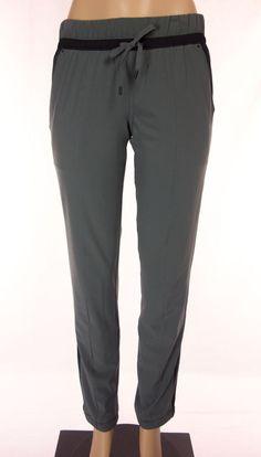 LULULEMON Pants Size 6 S Small Black Gray Lined Studio Drawstring Hem #Lululemon #PantsTightsLeggings