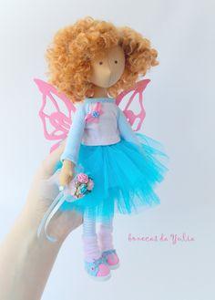 Cloth handmade doll Butterfly Boneca do tecido от BonecasDaYulia
