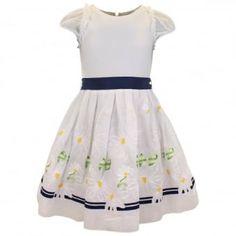Monnalisa White Daisy Dress