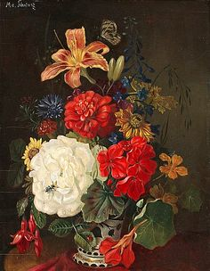 Unknown (Swedish) -     Flowers and Insects,     1800