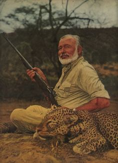 Article about Ernest Hemingway on Safari in Africa Ernest Hemingway, Vintage Safari, Art Of Manliness, Writers And Poets, American Literature, Out Of Africa, Mans World, African Safari, Idaho