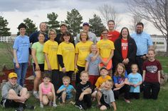 The Faith Builders group helped clean up the grounds area and flower beds in Norfolk, NE as part of the SMILE Program.