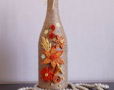 bottle decor wine bottle decor decorated wine by InnArtShop