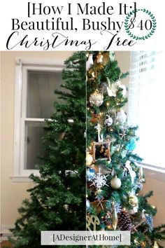 s 7 ways to make your fake tree look full and fabulous on the cheap, christmas decorations, seasonal holiday decor, Solution Spread Branches to Fill in Kinks Skinny Christmas Tree, Cheap Christmas Trees, How To Make Christmas Tree, Beautiful Christmas Trees, All Things Christmas, Christmas Tree Decorations, Christmas Holidays, Christmas Wreaths, Christmas Ornaments