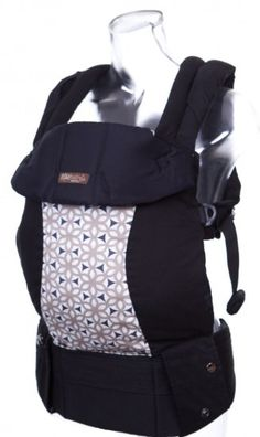 lillebaby COMPLETE 6-in-1 Baby Carrier - Black w/Kimono Taupe (Ty Pennington LIMITED Ed.)