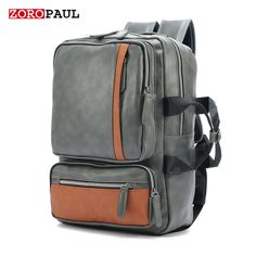 Buy now ZOROPAUL 2017 NEW Men bagpack Backpacks Men's Fashion Backpack & Travel Male Bag Western Boys Black Bags PU Leather Backpack Men just only $22.54 with free shipping worldwide  #backpacksformen Plese click on picture to see our special price for you