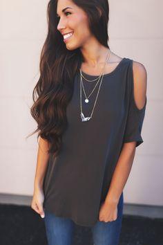 Gold V Pendant Long Necklace- Black/White - Dottie Couture Boutique