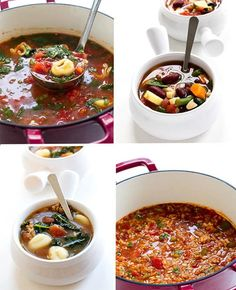 Super comforting, hearty and can be ready in less than 45 minutes! Hi guys! It's Kelley back from . Beef Recipes, Soup Recipes, Cooking Recipes, Stuffed Pepper Soup, Stuffed Peppers, African Peanut Stew, Hearty Beef Stew, Veg Soup, Spinach Soup