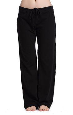 Women's Sleep & Loungewear - CYZ Women's Casual Stretch Cotton Pajama Pants Simple Lounge Pants at Women's Clothing store: Cotton Pyjamas, Cotton Pants, Lounge Pants, Lounge Wear, Pajama Bottoms, Pajama Pants, Women's Bottoms, Knit Pants, Pajamas Women