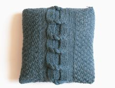 Free Tutorial - Big Cable Cushion Cover