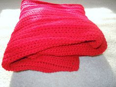 How to Crochet the Snuggle Red Afghan Pattern. Free Crochet red Snuggle blanket pattern