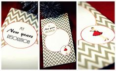 Resolution cards at a New Year's Party #newyears #party