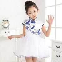 Jag tror du skulle gilla Newest 3-14 Y Kids Girl Chinese Style Floral Print Cute Tutu Dress 2015 Summer Children Toddler Baby Blue and White Elegant Clothes. Lägg till den i din önskelista!  http://www.wish.com/c/554e1650d0a33a2f9cdcc7bd