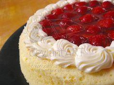 Strawberry Japanese Cheesecake by meechan