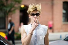 Am thinking that's a shirt-tee....me like.    Slideshow: Street Style From New York Fashion Week, Day One - The Cut