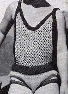 Child's Sunsuit knit pattern originally published in Children's Clothes, Book Knitting Patterns Free, Free Knitting, Knit Patterns, Crochet Bikini, Crochet Top, Vintage Knitting, Swimsuits, Swimwear, Vintage Patterns