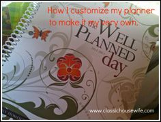 Customizing the Well-Planned-Day  #homeschool