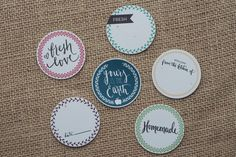 Cute fonts - Canning Lid Labels // Original Calligraphy