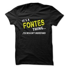 Its a FONTES thing - #long tee #tshirt design. BUY NOW => https://www.sunfrog.com/Christmas/Its-a-FONTES-thing.html?68278