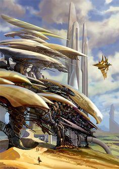 [Science fiction art] exploration by dearden at Epilogue