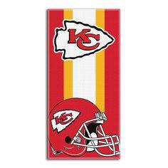 Kansas City Chiefs NFL Zone Read Cotton Beach Towel 30in x 60in