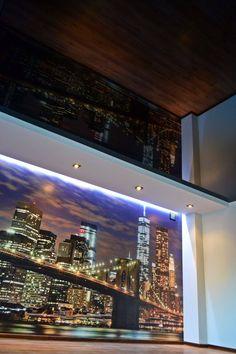 Nocne światła miasta i sufit napinany ;) / Night lights of the city and stretch ceiling ;)
