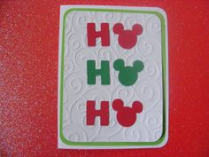 Christmas Mickey Mouse Inspired Card Ho Ho by whimsycreationsbyann, $9.00