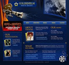 Movie Theatre Website Templates by Maxwell