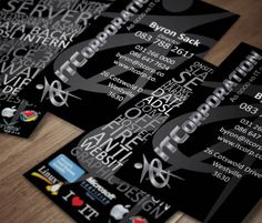 Business Card Design for IT Corporation  Programmes Used: CorelDRAW  Company worked for: Crystal Media (www.crystalmedia.co.za)