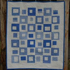 Blue Moon Modern Baby Quilt. $78.00, via Etsy.