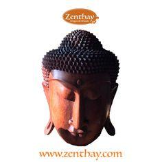 Espetacular cabeça de Buda com 40cm de altura, muito serena, que vai ficar um show em sua mesa de centro. A zenthay.com tem. Garanta a sua!