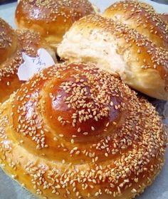 Greek Cake, Greek Pita, Bread Art, Greek Recipes, Bagel, Scones, Doughnut, Oreo, Biscuits