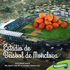 Visita la Casa de los Acereros del Norte en Monclova, equipo que forma parte de la Liga Mexicana de Béisbol con una rica botana de Promanuez México. Y como dato te decimos que el primer partido disputado en este escenario de LMB, aconteció el 16 de marzo de 1975 entre los Mineros de Coahuila y los desaparecidos Alijadores de Tampico.