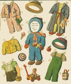 Children in the Shoe ~~ Paper Dolls. Do You Remember Paper Dolls? Print this on cardstock and enjoy this old time favorite with a child.