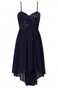 Navy Embellished Baby doll Dress  £65.00