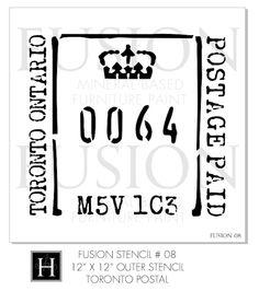 Fusion™ Stencils Toronto Postal