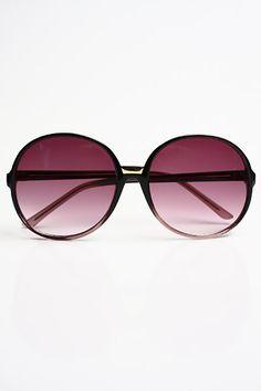 Vintage Inspired Oversized Bernice Sunglasses - Black-Gray - 2979-3