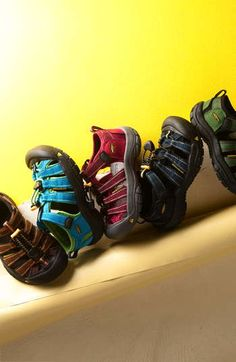 Best shoes for kids, breathable, great arch support and toe protection! But if you have a kid whose feet sweat (my kids) they tend to get stinky!