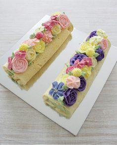 K Swiss Roll Cakes, Swiss Cake, Mini Cakes, Cupcake Cakes, Jelly Roll Cake, Cake Roll Recipes, Log Cake, Pastry Cake, Buttercream Cake