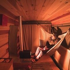 Note to self: get hammock..... and wood stove! #VanCrush . . Repost from @cyrus_sutton #vanlife