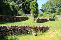 #jardin #recyclage #bois #bûches #soutenement