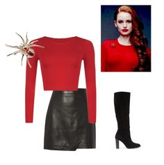 """""""Cheryl Blossom"""" by maysikaye ❤ liked on Polyvore featuring Michelle Mason and New Look"""