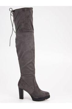 Sivé mušketierky na stĺpiku Seastar Knee Boots, Platform, Shoes, Fashion, Wedge, Zapatos, Moda, Shoes Outlet, La Mode