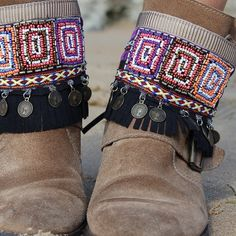 Hand made boot covers. Boho chic, special pieces #bootcover #bohoboots #shoefashion