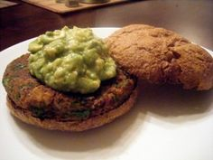 Mexican Black Bean Burgers (use gaucamole for topping)