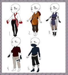 Naruto Outfit Adopts:: OPEN by XxKawaiiSnow-ChanxX on DeviantArt