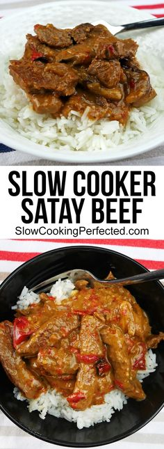Instant pot recipes 68679963054246929 - Mouthwatering Good Slow Cooker Satay Beef – Slow Cooking Perfected Source by Slow Cooking, Slow Cooked Meals, Healthy Slow Cooker, Best Slow Cooker, Crock Pot Slow Cooker, Cooking Recipes, Slow Cooker Curry, Roast Beef Slow Cooker, Slow Cooker Fajitas