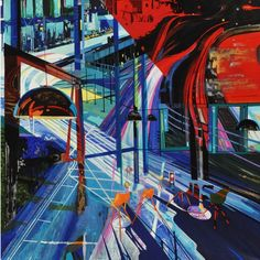 Another masterpiece by #artist Suparna Mondal. Feel the speed and rush of urban life in her vibrant #artworks. View more at www.artspread.com #Artspread #ContemporaryArt #IndianArt #OnlineArtGallery